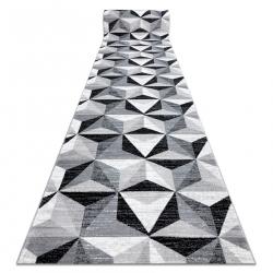 Argent futó szőnyeg - W6096 HÁROMSZÖGEK 3D szürke / fehér