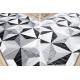 Tapis de couloir ARGENT - W6096 TRIANGLES 3D gris / noir