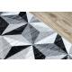 Пътеки ARGENT – W6096 триъгълници 3D сив / черно