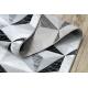 Passatoia ARGENTO - W6096 TRIANGOLI 3D grigio / nero