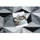 Läufer ARGENT DREIECKE 3D - W6096 grau / schwarz