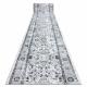 Tapis de couloir ARGENT CADRE - W7040 gris / noir