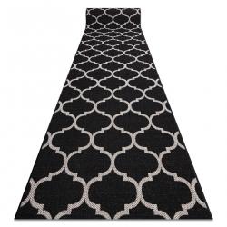 Sizal futó szőnyeg FLOORLUX minta 20608 marokkói rácsos fekete / ezüst
