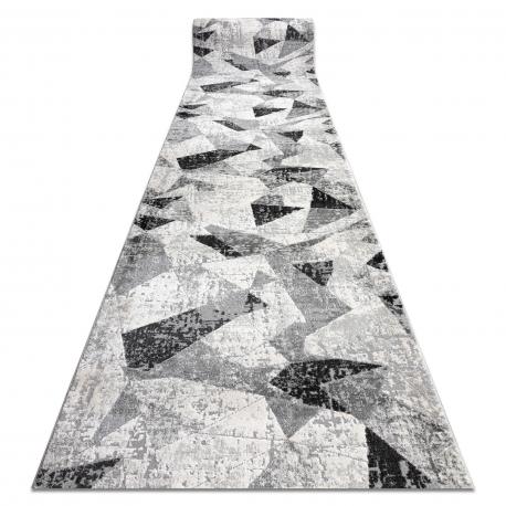 Modern Läufer TULS 51211 Geometrisch anthrazit