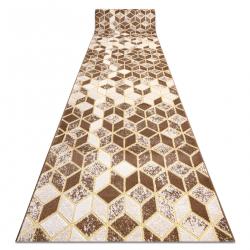 MEFE futó szőnyeg Structural B400 Kocka, geometriai 3D - két szintű gyapjú bézs