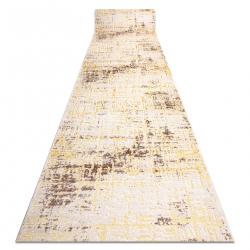 MEFE futó szőnyeg Structural 8722 Vonalak vintage - két szintű gyapjú bézs / arany