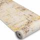 Chodnik Strukturalny MEFE 8722 Linie vintage przecierany - dwa poziomy runa beż / złoty