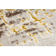 Behúň Štrukturálny MEFE 8722 Pásy vintage - dve vrstvy rúna béžová / zlatá