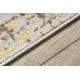 Läufer Strukturell MEFE 8722 Linien vintage - zwei Ebenen aus Vlies beige / gold
