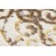 Chodnik Strukturalny MEFE 8724 Ornament, vintage przecierany - dwa poziomy runa beż / złoty