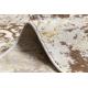 Runner Structural MEFE 8724 Ornament, vintage - two levels of fleece beige / gold
