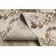 Passadeira Structural MEFE 8724 Ornamento vintage - dois níveis de lã cinza bege / ouro