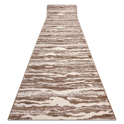 MEFE futó szőnyeg Structural 8761 Hullámok - két szintű gyapjú bézs