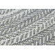 Kulatý koberec FLAT 48834637 SISAL Boho, vrkoč sivá