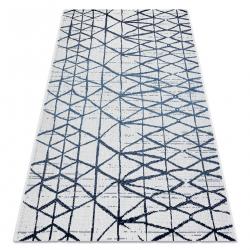 Koberec COLOR 47278306 SISAL riadky, trojuholníky béžový / modrá