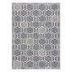 Koberec SPRING 20404332 Hexagon Sisalový, slučkový - sivý