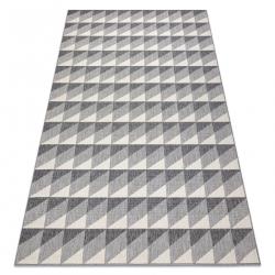 Koberec SPRING 20406332 diamanty trojuholníky Sisalový, slučkový - sivý