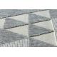 Koberec SPRING 20409332 trojuholníky Sisalový, slučkový - sivý