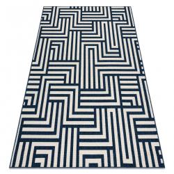 Koberec SPRING 20421994 labyrint Sisalový, slučkový - krém / blau