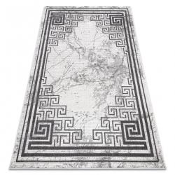 Moderný koberec NOBLE 1517 65 vzor rámu, Grécky, mramor - Štrukturálny, dve vrstvy rúna, krémová sivá