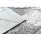 Moderný koberec NOBLE 1518 67 Vintage, geometrický - Štrukturálny, dve vrstvy rúna, krémová sivá