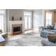 Moderný koberec NOBLE 1520 45 Vintage, geometrický , riadky - Štrukturálny, dve vrstvy rúna, sivá
