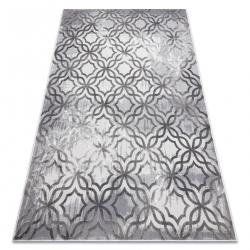 Moderný koberec NOBLE 1532 45 Vintage, Marocká mriežka - Štrukturálny, dve vrstvy rúna, sivá