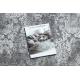 Moderný koberec NOBLE 6773 45 ornament vintage - Štrukturálny, dve vrstvy rúna, sivá