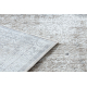 Moderný koberec NOBLE 9731 45 Ružica vintage - Štrukturálny, dve vrstvy rúna , sivá / béžová
