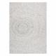 Koberec FLAT SISAL 48832367 Kruhy, bodky krémová / sivá
