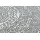 Koberec FLAT SISAL 48832637 Kruhy, bodky sivá / krémová