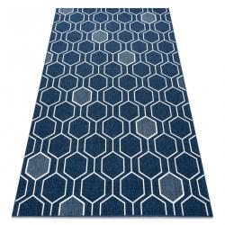 Koberec SPRING 20404994 Hexagon Sisalový, slučkový - modrý