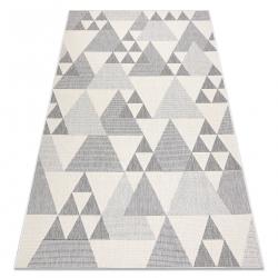 Koberec SPRING 20409662 trojuholníky Sisalový, slučkový - krémová