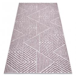 Koberec COLOR 47176260 SISAL riadky, trojuholníky, zigzag béžová / ružový