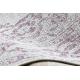 Koberec COLOR 47295260 SISAL Ornament, rám béžová / fialový