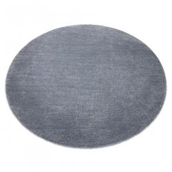 Moderný okrúhly koberec LATIO 71351070, prateľný, sivá