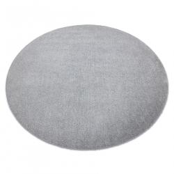 Moderný okrúhly koberec LATIO 71351060, prateľný, striebro