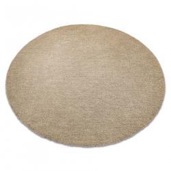 Moderný okrúhly koberec LATIO 71351050, prateľný, béžový