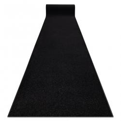 Jednotny behúň KARMEL prostý, jednofarebný čierna