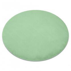 Okrúhly koberec BUNNY, zelená, imitácia králičej kožušiny