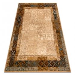 Vlnený koberec OMEGA LUMENA etnický, vintage kamel
