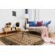 Wool carpet OMEGA PARILLO frame jadeit brown