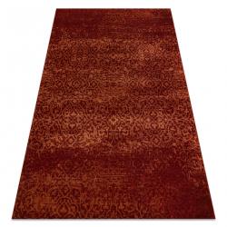 Vlnený koberec KASHQAI 4341 300 ornament, vintage vin roșu
