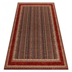 Vlnený koberec KASHQAI 4357 300 rám, orientálny verde / vin roșu
