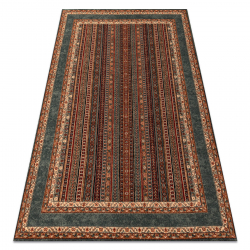 Vlnený koberec KASHQAI 4357 400 rám, orientálny terakota