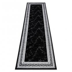 Koberec, Behúň GLOSS moderný 2813 87 štýlový, rám, Grécky čierna / sivá