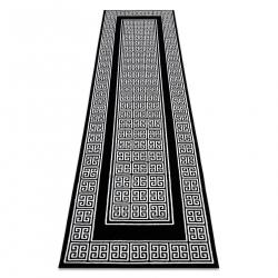 Koberec, Behúň GLOSS moderný 6776 85 štýlový, rám, Grécky čierna / slonová kosť