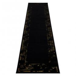 Koberec, Behúň GLOSS moderný 408C 86 vzor rámu štýlový, glamour, art deco čierna / zlatá