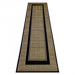 Koberec, Behúň GLOSS moderný 6776 86 štýlový, rám, Grécky čierna / zlatá kosť