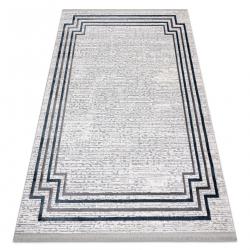 Modern szőnyeg TULS szerkezeti, rojt 51242 Keret elefántcsont / kék